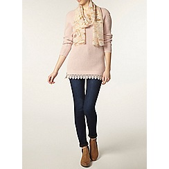 Dorothy Perkins - Tall blush lace hem jumper