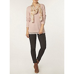 Dorothy Perkins - Blush lace hem jumper