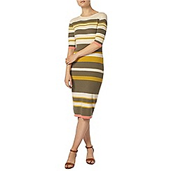 Dorothy Perkins - Oat and khaki stripe midi dress