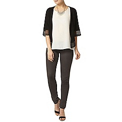 Dorothy Perkins - Black lace trim edge 2 edge cardigan