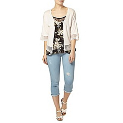 Dorothy Perkins - Rose lace trim cardigan