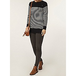 Dorothy Perkins - Navy and ivory stripe jumper