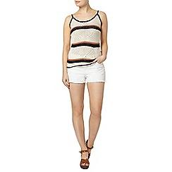 Dorothy Perkins - Stripe crochet camisole top