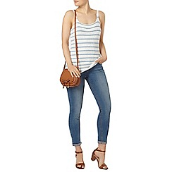 Dorothy Perkins - Ivory and blue stripe camisole top