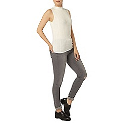 Dorothy Perkins - Ivory cable front shell top