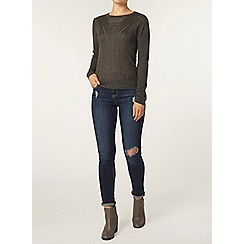 Dorothy Perkins - Charcoal stitch front jumper