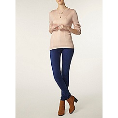 Dorothy Perkins - Tall blush stitch front jumper
