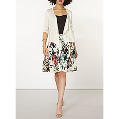 Dorothy Perkins - Oat pointelle back cardigan