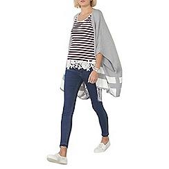 Dorothy Perkins - Grey and ivory stripe blanket