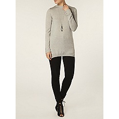 Dorothy Perkins - Grey button cuff jumper