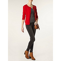 Dorothy Perkins - Tall red cotton cardigan