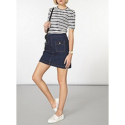 Dorothy Perkins - Navy and grey stripe t-shirt