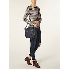 Dorothy Perkins - Navy and pink button stripe jumper