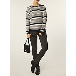 Dorothy Perkins - Navy and pink stripe block jumper