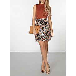 Dorothy Perkins - Ginger button back shell top