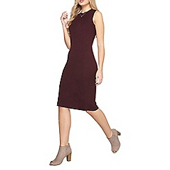 Dorothy Perkins - Aubergine split back dress