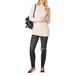 Dorothy Perkins - Pink cable knit jumper