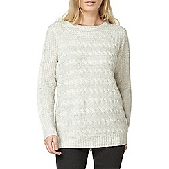 Dorothy Perkins - Grey cable knit jumper