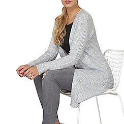 Dorothy Perkins - Grey ribbed long line cardigan
