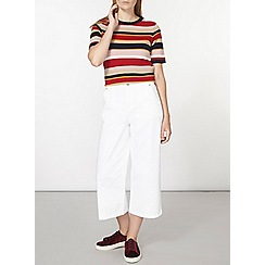 Dorothy Perkins - Red and navy ripple stripe t-shirt