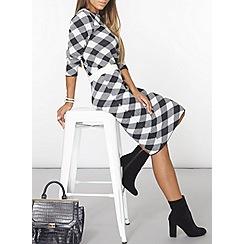 Dorothy Perkins - Blue and white check skirt