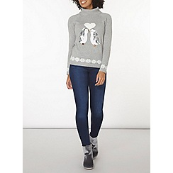 Dorothy Perkins - Grey penguin roll neck jumper
