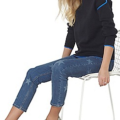 Dorothy Perkins - Navy and blue tipped sweat jumper