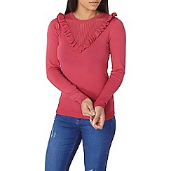 Dorothy Perkins - Rapberry frill chevron jumper