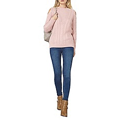 Dorothy Perkins - Pink cold shoulder jumper