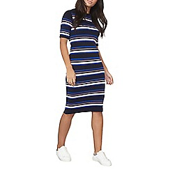 Dorothy Perkins - Navy and nude stripe midi dress