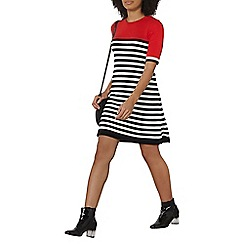 Dorothy Perkins - Red stripe shift dress