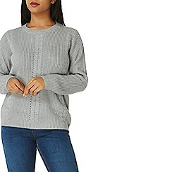 Dorothy Perkins - Grey cable front jumper