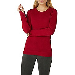 Dorothy Perkins - Red button cuff jumper