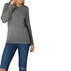 Dorothy Perkins - Charcoal button cuff jumper