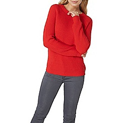 Dorothy Perkins - Red jumper with gold zip