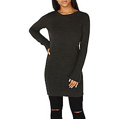 Dorothy Perkins - Charcoal flute sleeves knitted tunic