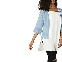 Dorothy Perkins - Chambray scallop trim cardigan