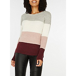 Dorothy Perkins - Pink and grey stripe jumper