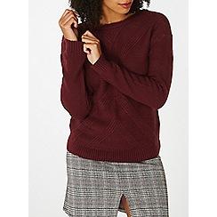 Dorothy Perkins - Raspberry soft stitch jumper