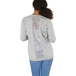 Dorothy Perkins - Grey lace panel back cardigan