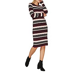 Dorothy Perkins - Multi coloured stripe knitted midi dress