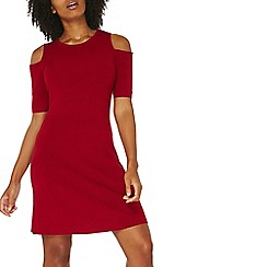 Dorothy Perkins - Red knitted shift dress