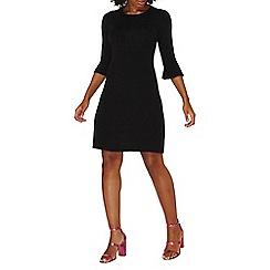 Dorothy Perkins - Black flute sleeves shift dress