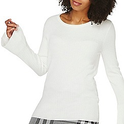 Dorothy Perkins - Ivory wide rib knitted jumper