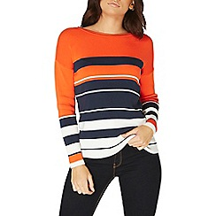 Dorothy Perkins - Orange and navy stripe jumper