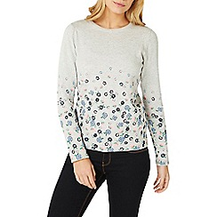 Dorothy Perkins - Grey rose print jumper