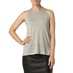 Dorothy Perkins - Silver sparkle knitted shell top