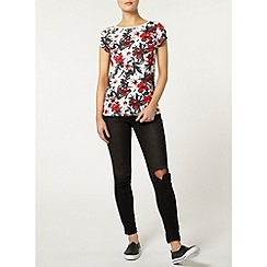 Dorothy Perkins - Red hibiscus t-shirt