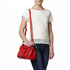 Dorothy Perkins - Ivory lace cuff and hem t-shirt
