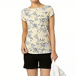 Dorothy Perkins - Lemon stem floral t-shirt